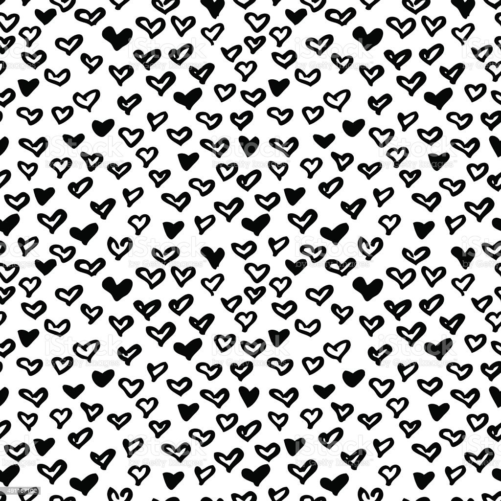 vector seamless modern heart pattern stock vector art. Black Bedroom Furniture Sets. Home Design Ideas