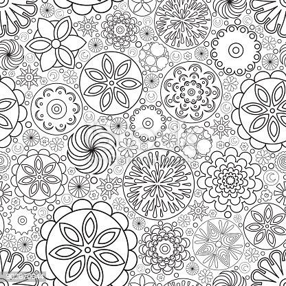 Ilustración de Vector Transparente Monocromo Floral El Patrón ...