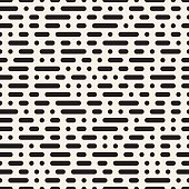 Vector Seamless Morse Code Dashed Horizontal Lines Pattern