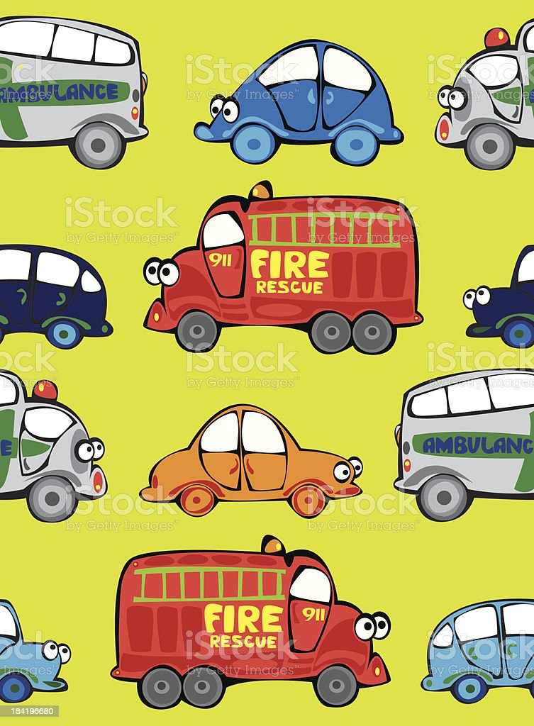 vector seamless multicolor cars pattern royalty-free vector seamless multicolor cars pattern stock vector art & more images of ambulance