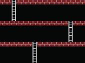 vector seamless old arcade game screen