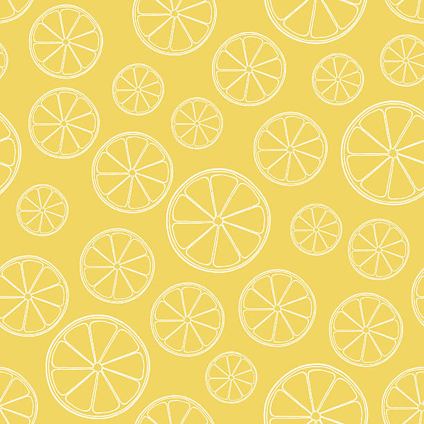 vector seamless orange pattern vector seamless orange  pattern lemon fruit stock illustrations
