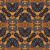 Vector Seamless Ornate Pattern