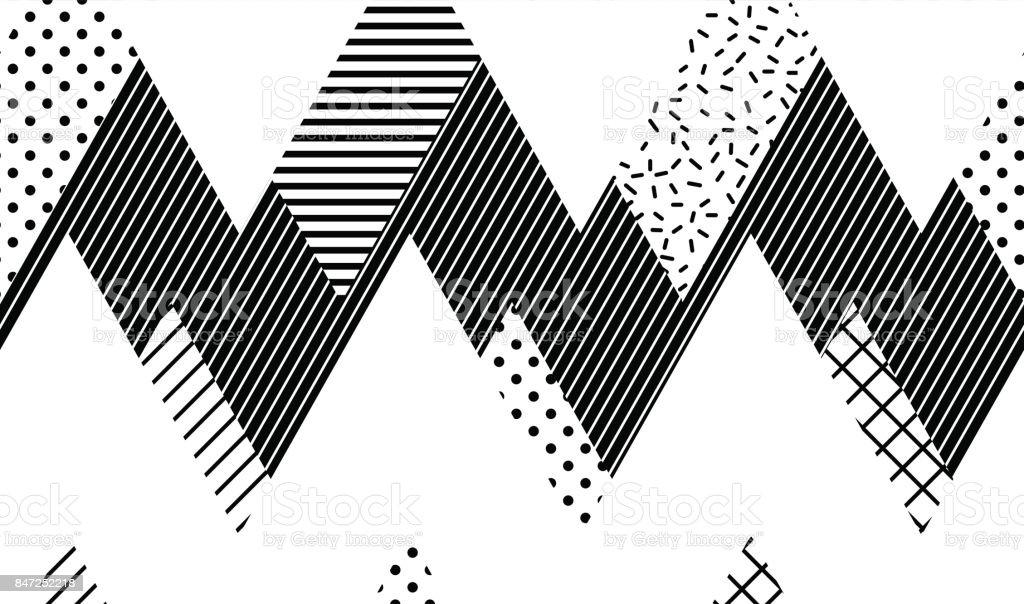 Vector Seamless Pattern. Abstract Geometric vector art illustration