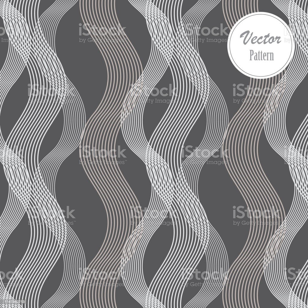Vector Nahtloses Muster Abstract Stylish Background Wavy