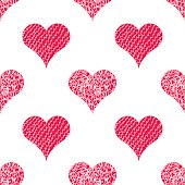 Vector seamless pattern background with hearts.