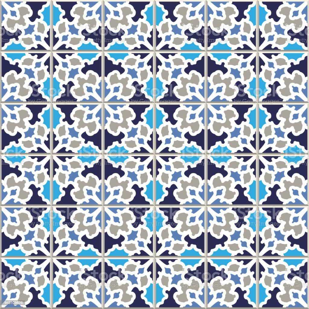 Vector Seamless Pattern Based On Traditional Wall And Floor Tiles ...
