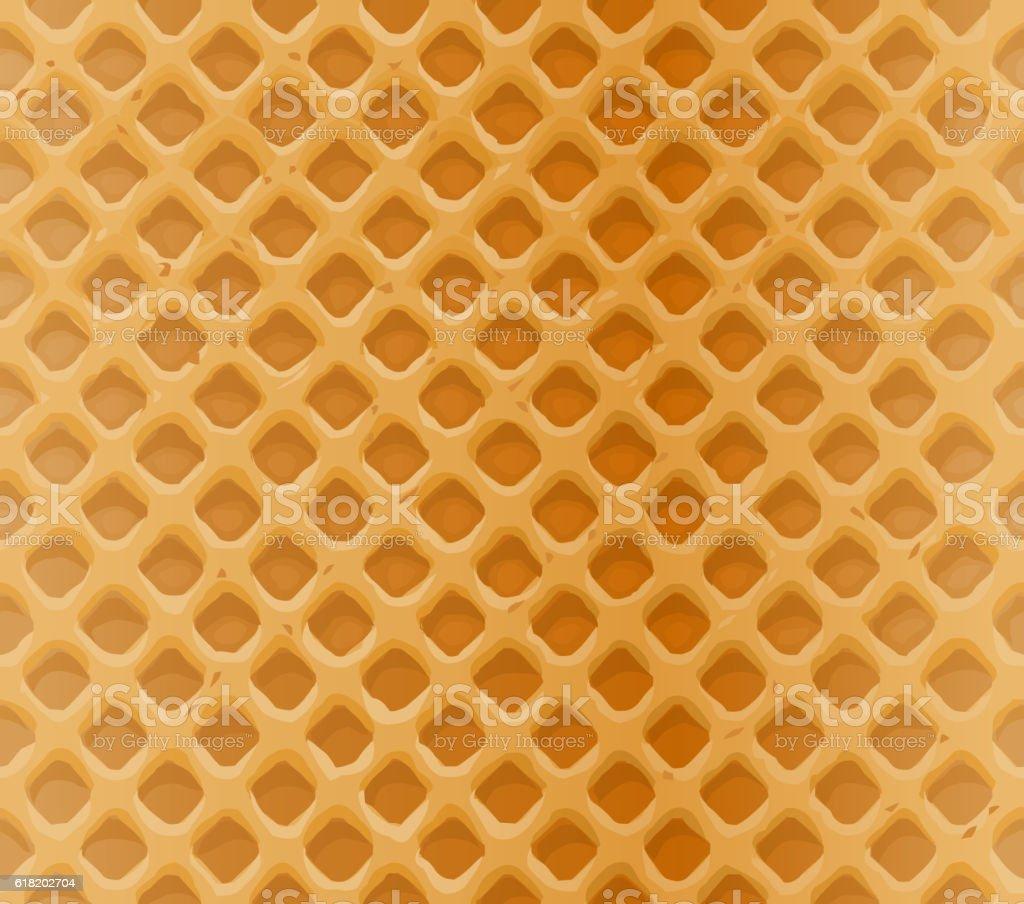 Vector seamless pattern delicious waffles vector art illustration