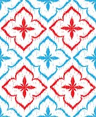 istock Vector seamless pattern design with ikat ornaments 1257786150