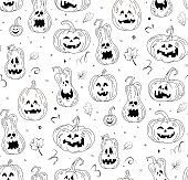 Vector seamless pattern for Halloween. Wrapping paper for Halloween