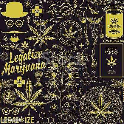 istock vector seamless pattern for marijuana legalization 1226967868