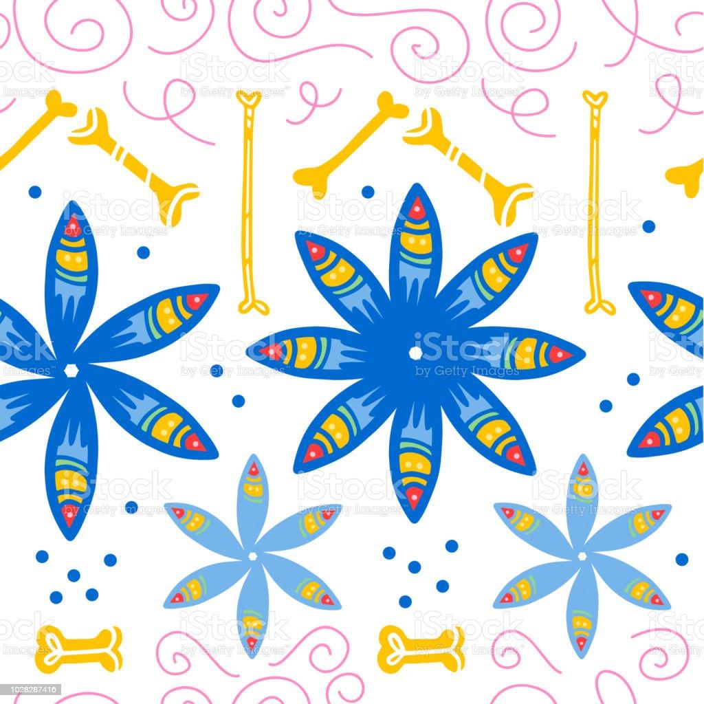 Patrones sin fisuras de vector para la celebración tradicional de México - ilustración de arte vectorial