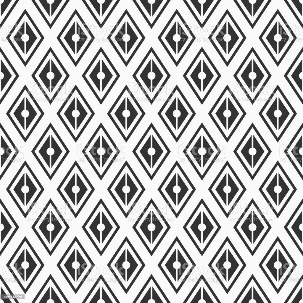 Vector naadloze patroon. Geometrische achtergrond van rhombuses. - Royalty-free Abstract vectorkunst
