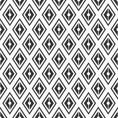 Vector Naadloze Patroon Geometrische Achtergrond Van Rhombuses Stockvectorkunst en meer beelden van Abstract