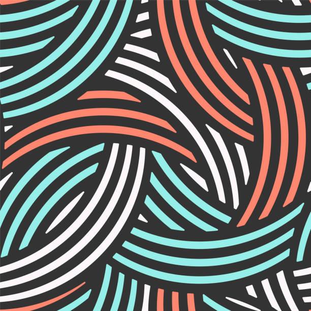 illustrazioni stock, clip art, cartoni animati e icone di tendenza di modello vettoriale senza soluzione di continuità. disegno geometrico con arco incrociato - motivo ripetuto