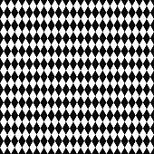 Vector seamless pattern. Geometric texture. Black-and-white background. Monochrome diamond-shaped design.