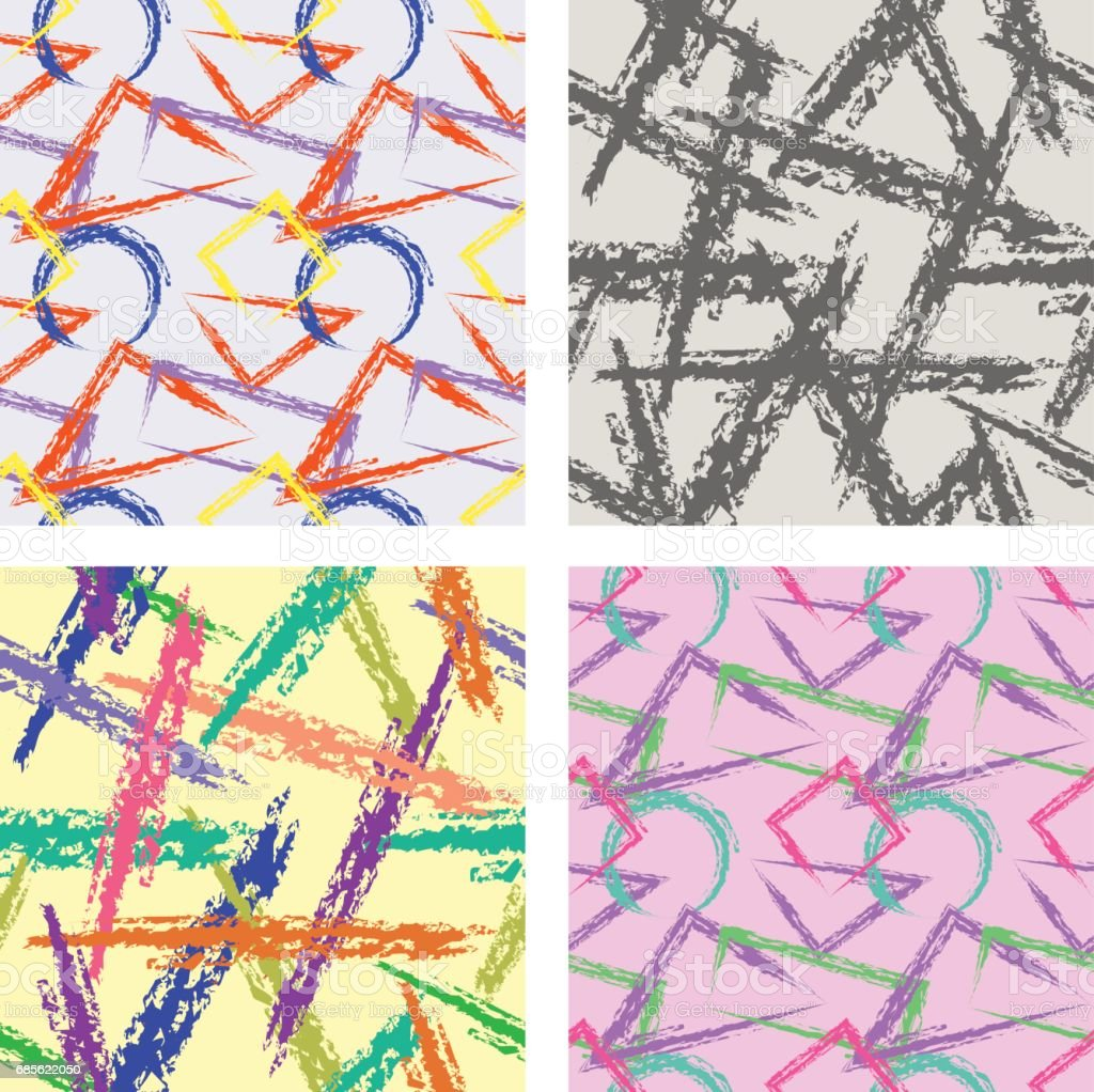 Vector seamless pattern, graphic illustration vector seamless pattern graphic illustration - arte vetorial de stock e mais imagens de abstrato royalty-free