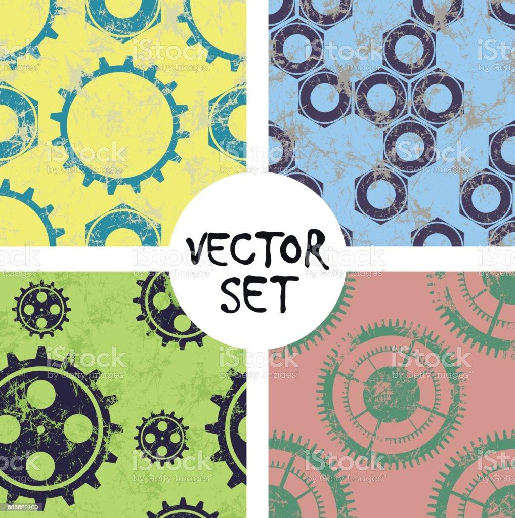 Vector seamless pattern, graphic illustration 免版稅 vector seamless pattern graphic illustration 向量插圖及更多 仿舊 圖片