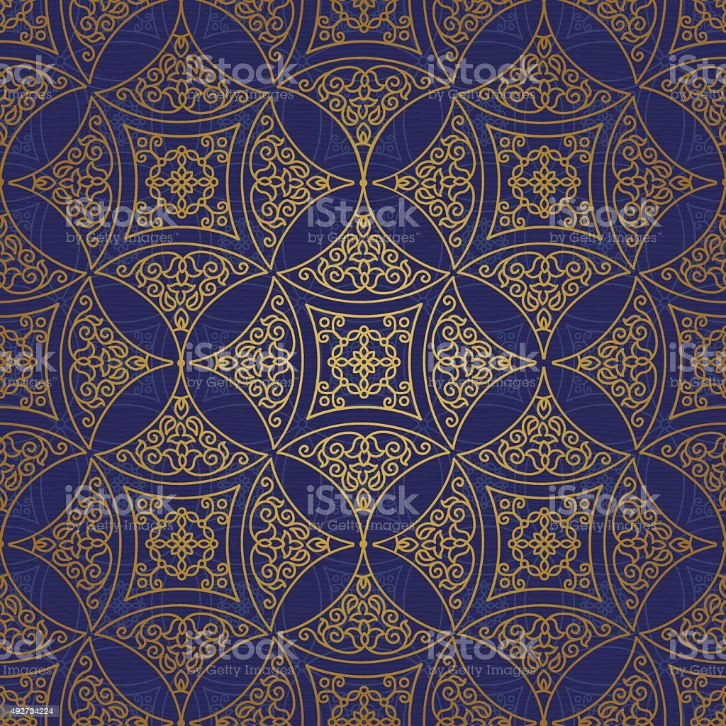 Vector seamless pattern in Eastern style. vector art illustration