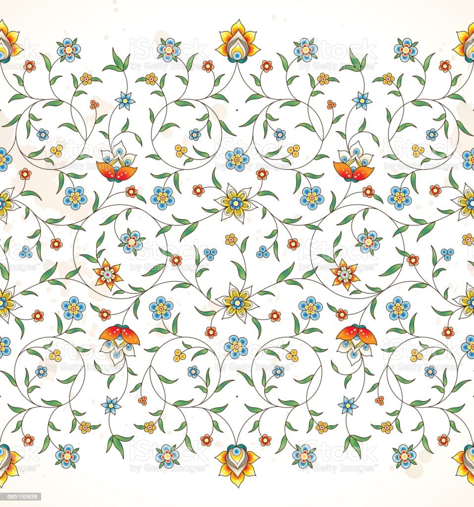 Vector seamless pattern in Eastern style. vector art illustration