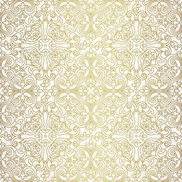 ilustraciones, imágenes clip art, dibujos animados e iconos de stock de vector seamless pattern en estilo victoriano. - textura de seda