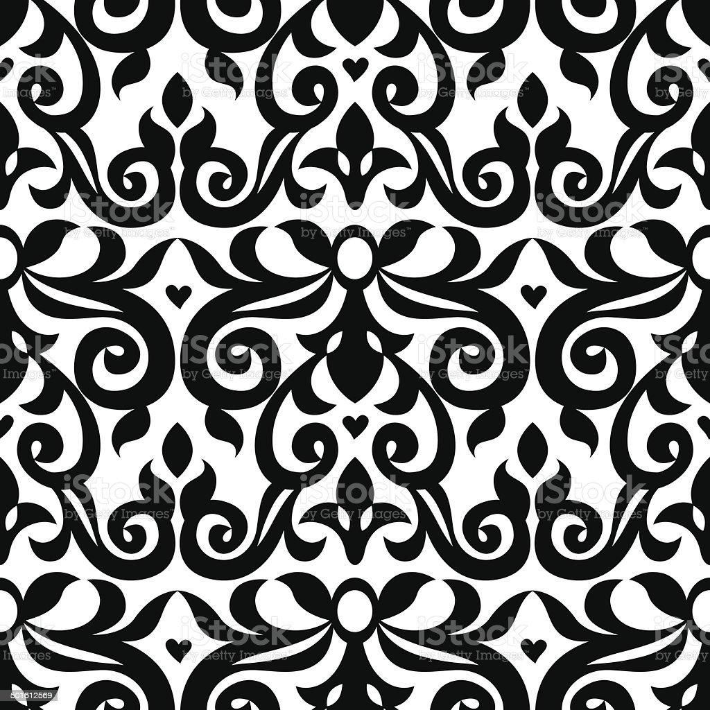 Vector seamless pattern in Victorian style. vector art illustration