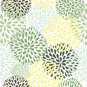 Vector seamless pattern. Modern floral texture. Stylish abstract background.