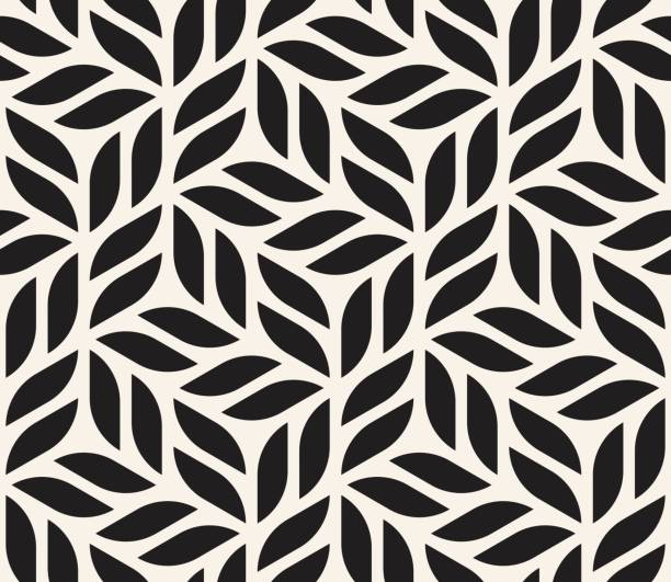 Vector seamless pattern. Modern stylish abstract texture. Repeating geometric shapes from striped elements Vector seamless pattern. Modern stylish abstract texture. Repeating geometric tiles from striped elements monochrome stock illustrations