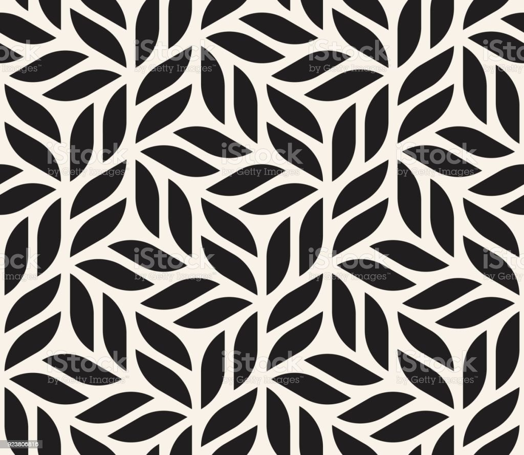 Vector seamless pattern. Modern stylish abstract texture. Repeating geometric shapes from striped elements vector art illustration