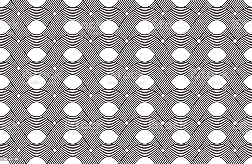 Vector seamless pattern. Modern stylish texture. Geometric striped ornament. Monochrome linear weaving. vector seamless pattern modern stylish texture geometric striped ornament monochrome linear weaving - stockowe grafiki wektorowe i więcej obrazów abstrakcja royalty-free