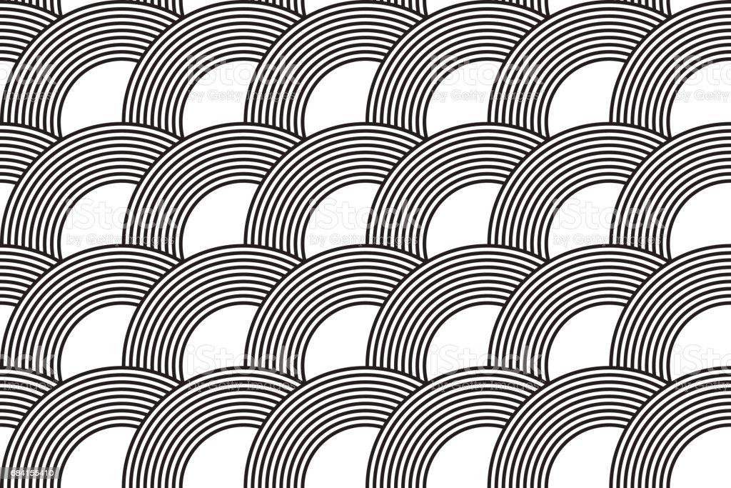 Vector seamless pattern. Modern stylish texture. Geometric striped ornament. Monochrome linear weaving. royalty free vector seamless pattern modern stylish texture geometric striped ornament monochrome linear weaving stockvectorkunst en meer beelden van abstract