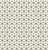 Vector seamless pattern. Modern stylish texture. Repeating Hexagon