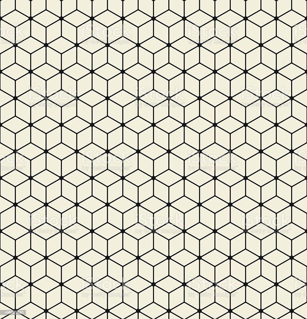Vector seamless pattern. Modern stylish texture. Repeating Hexagon vector art illustration