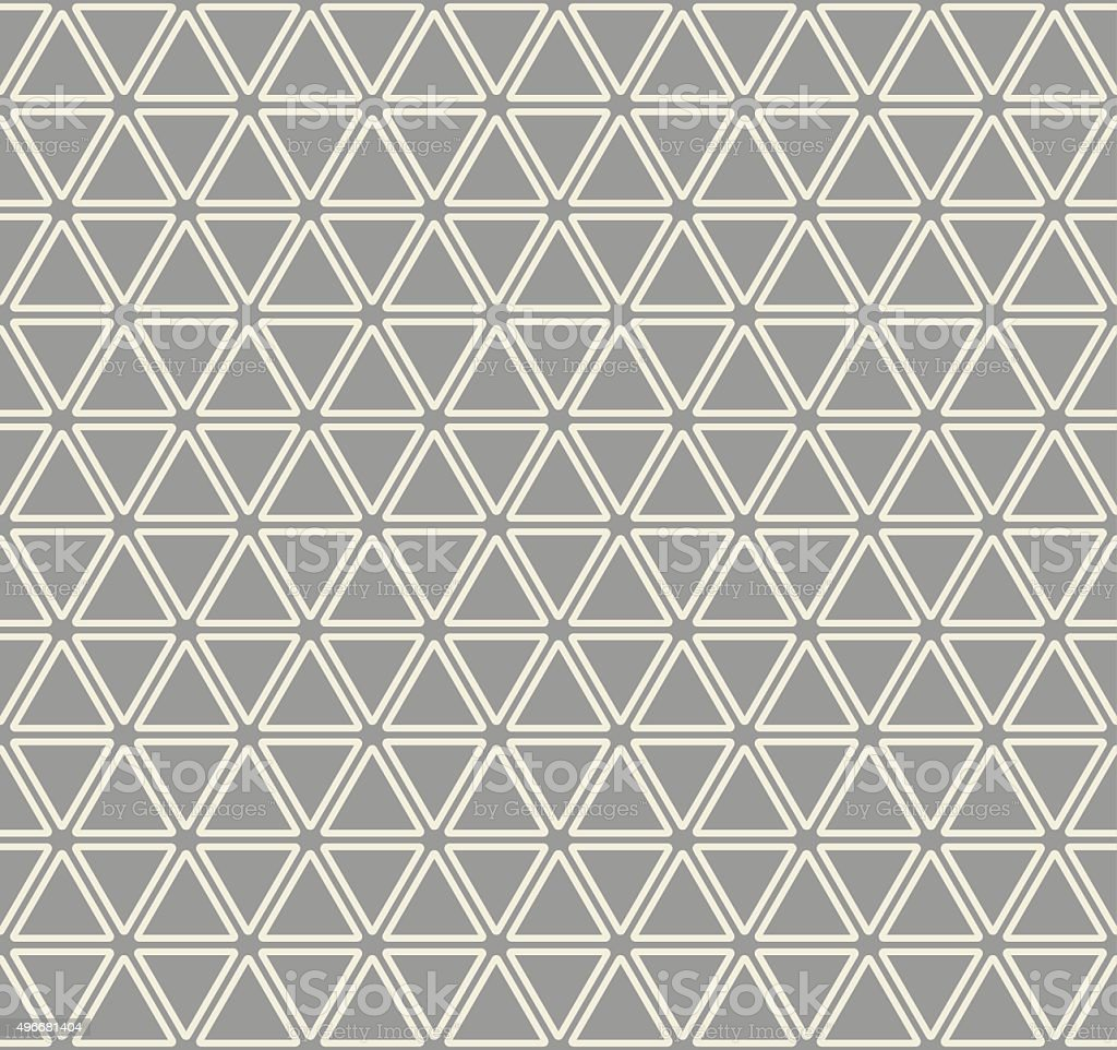 Vector seamless pattern. Modern stylish texture. Repeating Triangle design. vector art illustration