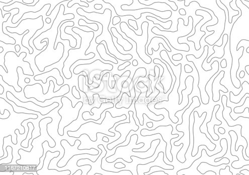 Vector seamless pattern. Monochrome organic shapes. Stylish natural structure. Abstract background