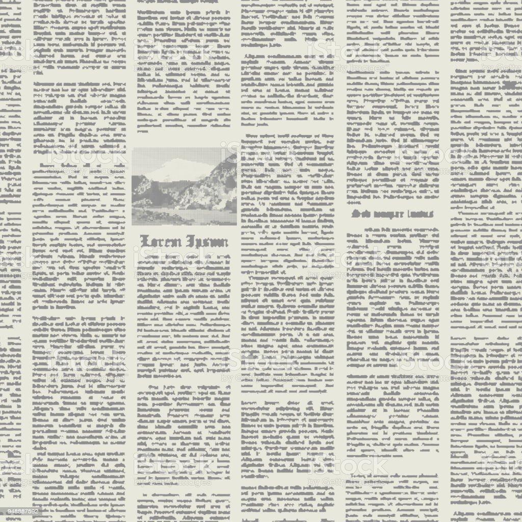 Vector seamless pattern newspaper.