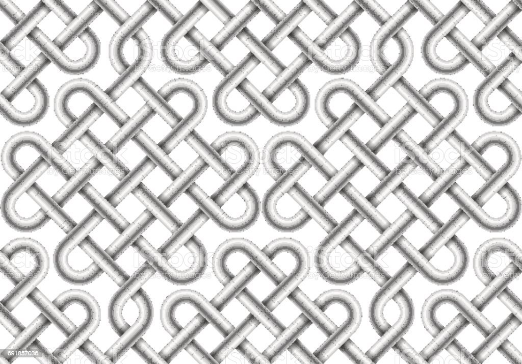 Vector seamless pattern of  braided cable vector art illustration