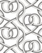 Vector seamless pattern of  braided cable