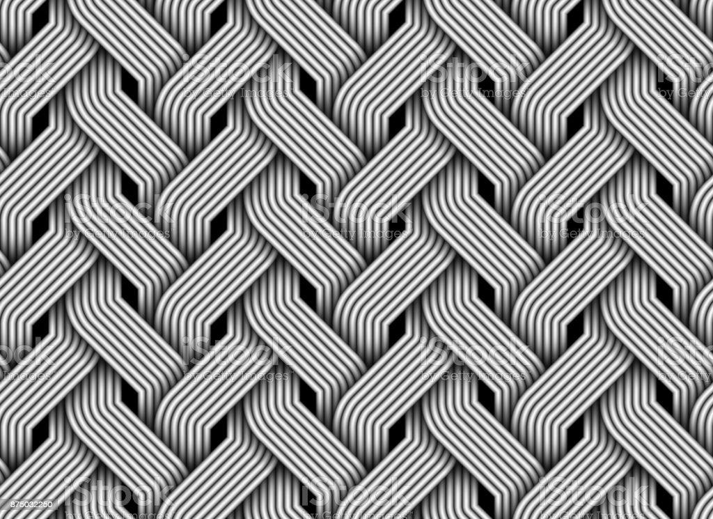 Vector seamless pattern of braided fiber. vector art illustration