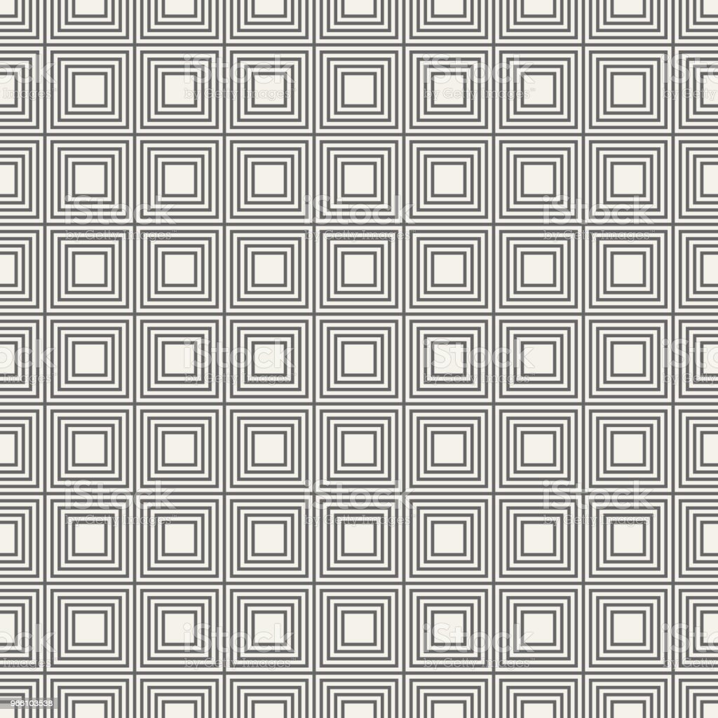 Vector seamless pattern of linear squares. - Royalty-free Abstract stock vector