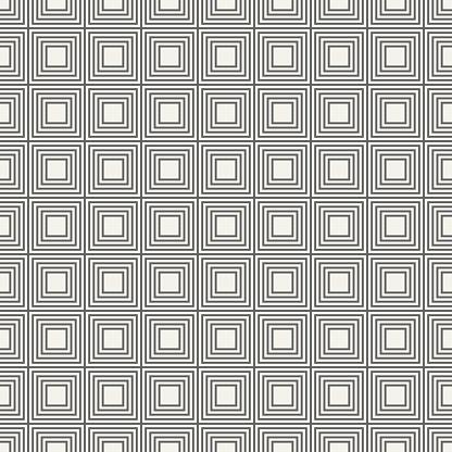 Vector Naadloze Patroon Van Lineaire Pleinen Stockvectorkunst en meer beelden van Abstract