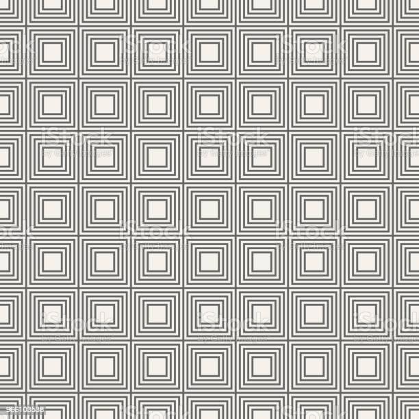 Vector Sömlösa Mönster Av Linjära Rutor-vektorgrafik och fler bilder på Abstrakt