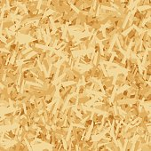 istock Vector seamless pattern of OSB boards from wood chips. Realistic oriented strand board (OSB) texture background. Vector illustration sheet of plywood with sawdust. Building and construction material. 1304363231