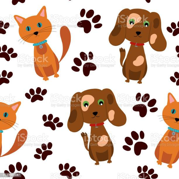 Vector seamless pattern of pets cats and dogs with toys and vector id1143910061?b=1&k=6&m=1143910061&s=612x612&h=i66mmhlczevp kzu8meffu7a2vvjzyzf8kfwqjbv9rq=