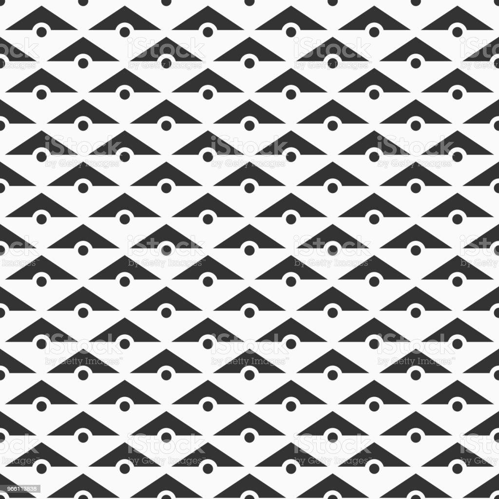 Vector sömlösa mönster av trianglar och prickar. - Royaltyfri Abstrakt vektorgrafik