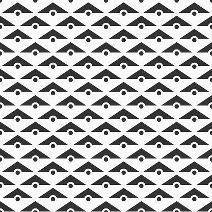 Vector Sömlösa Mönster Av Trianglar Och Prickar-vektorgrafik och fler bilder på Abstrakt