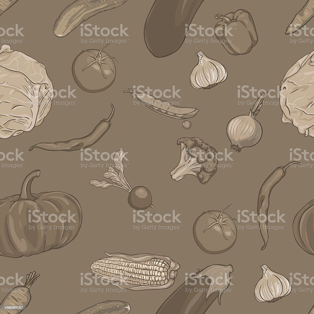 vector seamless pattern of vegetables royalty-free vector seamless pattern of vegetables stock vector art & more images of abstract
