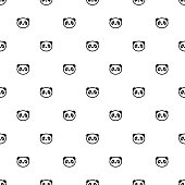 Vector seamless pattern, panda, Editable can be used for web page backgrounds, pattern fills