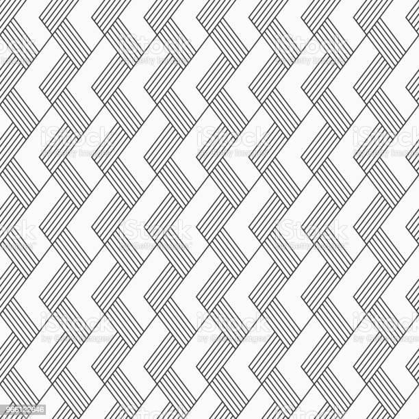 Vector Seamless Pattern Regularly Repeated Inclined Stripes — стоковая векторная графика и другие изображения на тему Ёлочка