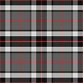 vector seamless pattern Scottish tartan Tompson, black, gray and white